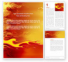Abstract/Textures: Fire Flame Word Template #03234