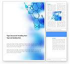 Abstract/Textures: Modèle Word de liaisons moléculaires #03256