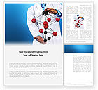 Technology, Science & Computers: Molecule Model Of Hydrocarbon Word Template #03257