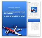 Utilities/Industrial: Pocket Knife Word Template #03272