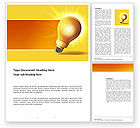 Business Concepts: Bright Idea Word Template #03307