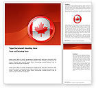 Flags/International: Canada Sign Word Template #03308