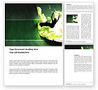 Sports: Skateboarder In A Green Colors Word Template #03310