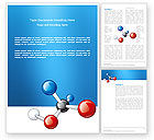 Technology, Science & Computers: Modèle Word de niveau moléculaire #03315