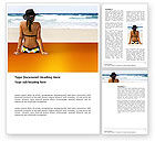 Holiday/Special Occasion: Sunny Beach Word Template #03331