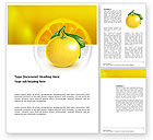 Agriculture and Animals: Yellow Citrus Word Template #03339