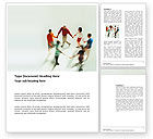 People: Dancing In The Ring Word Template #03344