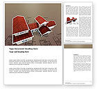 Construction: Red Roof Cottage Word Template #03353