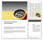 Business Concepts: Modèle Word de compas de poche sur la table #03370