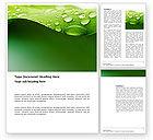 Abstract/Textures: 워드 템플릿 - 녹색 잎에 신선한 이슬 #03376