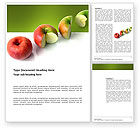 Business Concepts: Three Quarters Apple Word Template #03379