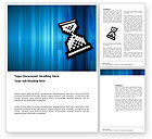 Technology, Science & Computers: Templat Word Sandglass Komputer #03393