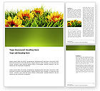 Agriculture and Animals: Yellow Flower Word Template #03401