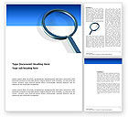 Consulting: Magnifying Glass In Search Word Template #03413