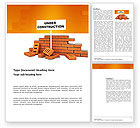 Construction: Under Construction Word Template #03416