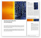 Technology, Science & Computers: Circuit Board Word Template #03422