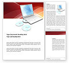Technology, Science & Computers: Templat Word Laptop Komputer #03424