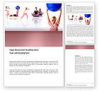 Sports: Women's Fitness Club Word Template #03425
