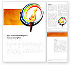 Sports: Olympic Fire Word Template #03430