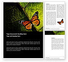 Agriculture and Animals: Schmetterling-effekt Word Vorlage #03432