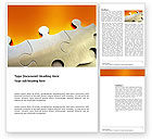 Business Concepts: Puzzle Parts Word Template #03435