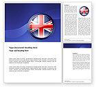 Flags/International: Großbritannien Word Vorlage #03448