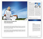 Religious/Spiritual: Countryside For Meditation Word Template #03454