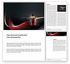 Sports: Fit Body Word Template #03455