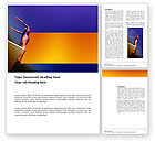 Sports: Diving Sport Word Template #03460