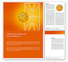 Sports: Basketball Field Word Template #03463