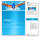 Sports: Swimming Stroke Word Template #03464