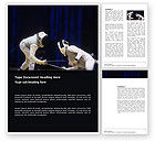 Sports: Free Fencing Duel Word Template #03466