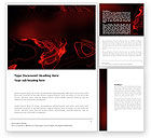 Abstract/Textures: Red Curls Word Template #03469