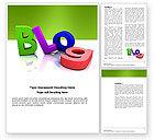 Careers/Industry: Blog Word Template #03477