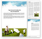 Business Concepts: Paper Work Word Template #03482