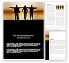 Sports: Wide Horizons Word Template #03483