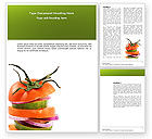 Food & Beverage: Fresh Vegetables Word Template #03490