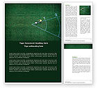 Sports: Field Marking Word Template #03494