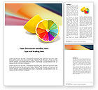 Business Concepts: Color Diversity Word Template #03498