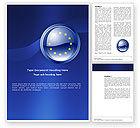 Flags/International: European Union Sign Word Template #03499