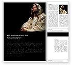 Religious/Spiritual: Believer Word Template #03521
