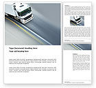 Cars/Transportation: Freight Service Word Template #03527