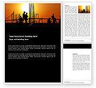 Construction: Templat Word Pembangun #03530