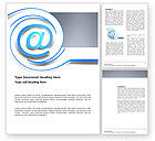 Technology, Science & Computers: Modern Communication Via Email Word Template #03532