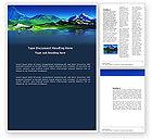 Nature & Environment: Mountain Lake Word Template #03534
