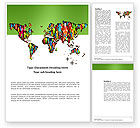 Global: World Diversity Word Template #03543