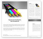 Careers/Industry: CMYK Colors Word Template #03565