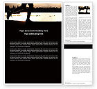 Sports: Jogging On The Bank Of The River Word Template #03580