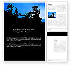 Global: Chinese Dragons Word Template #03582