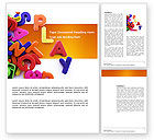 Education & Training: Word Play Word Template #03592